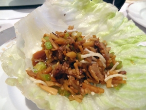 Lettuce Wraps made from the meat!