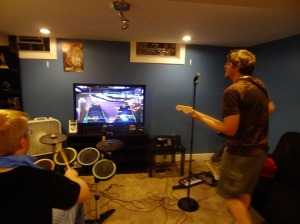 Of course there was Rock Band. It's my house isn't it? :P