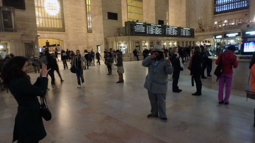 Dante being a tourist at Grand Central