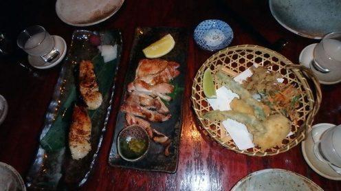 Grilled Saikyo Black Cod, Jidori Chicken, Organic Vegetable Tempura