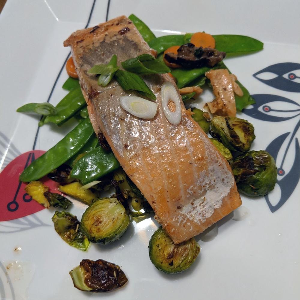 Sous-vide salmon